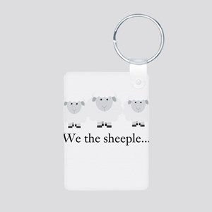 We the Sheeple Keychains