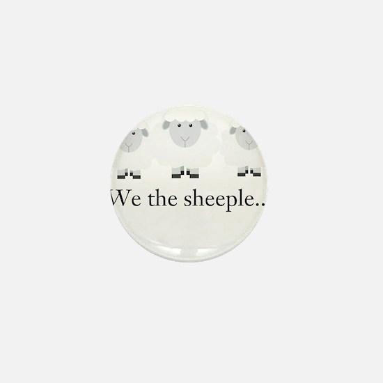We the Sheeple Mini Button