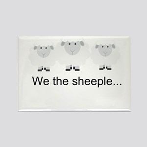 We the Sheeple Rectangle Magnet