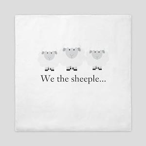 We the Sheeple Queen Duvet