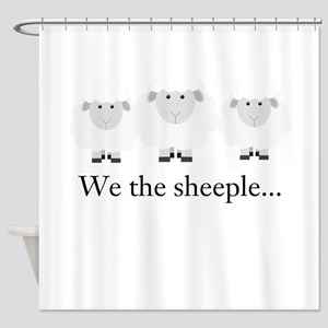 We the Sheeple Shower Curtain