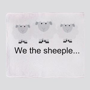 We the Sheeple Throw Blanket