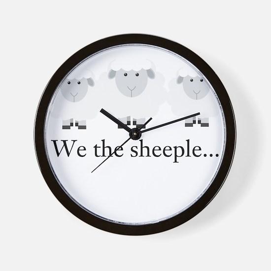 We the Sheeple Wall Clock