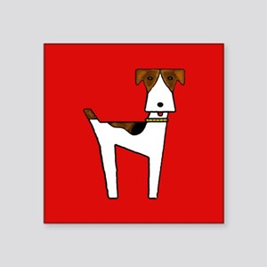 """graphic terrier (red) Square Sticker 3"""" x 3"""""""
