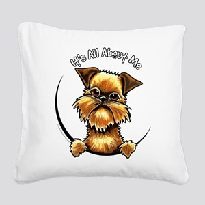 Brussels Griffon IAAM Square Canvas Pillow