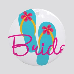 Flip Flop Bride Ornament (Round)