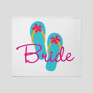 Flip Flop Bride Throw Blanket