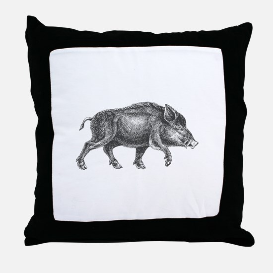 Wild Boar Throw Pillow