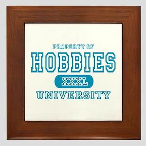 Hobbies University Framed Tile