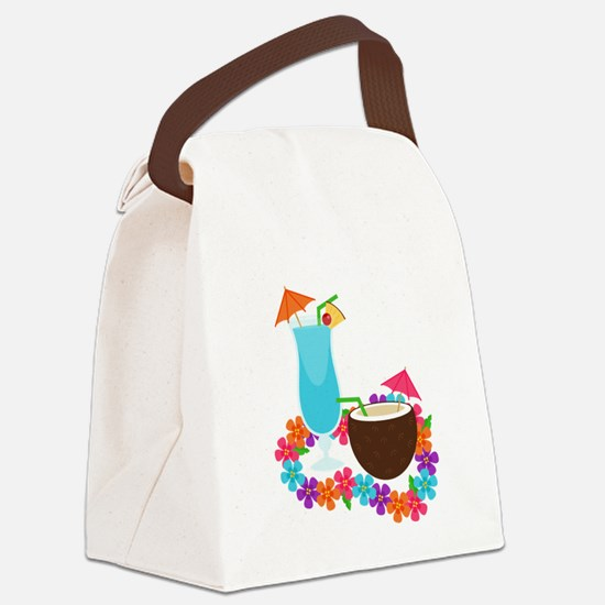 Tropical Drinks Canvas Lunch Bag