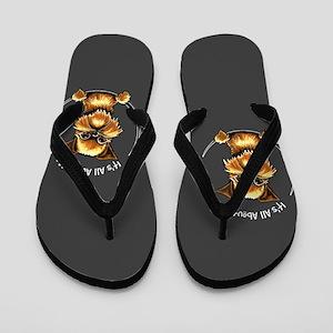 Brussels Griffon IAAM Flip Flops