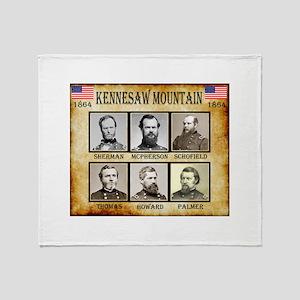 Kennesaw Mountain - Union Throw Blanket