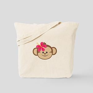 Sweet Girl Monkey Tote Bag