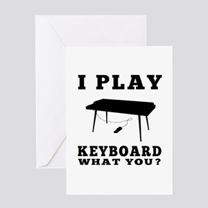 I Play Keyboard Greeting Card