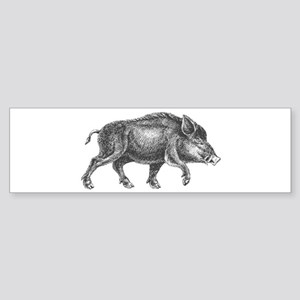 Wild Boar Bumper Sticker