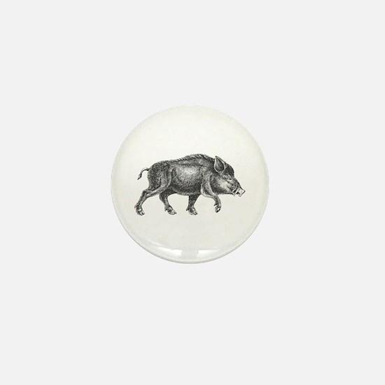 Wild Boar Mini Button