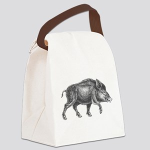 Wild Boar Canvas Lunch Bag