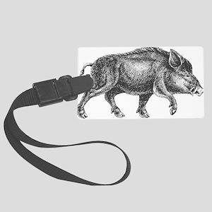 Wild Boar Luggage Tag