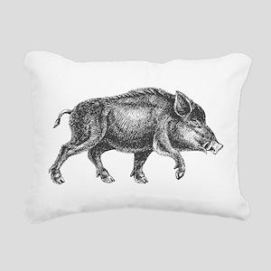 Wild Boar Rectangular Canvas Pillow