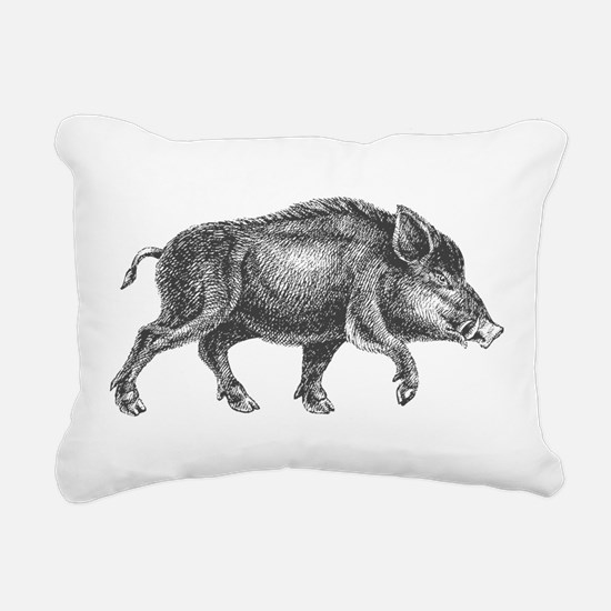 Wild Boar Rectangular Canvas Pillow