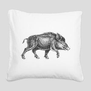 Wild Boar Square Canvas Pillow