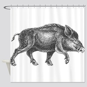 Wild Boar Shower Curtain