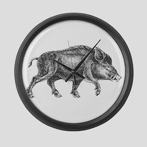 Wild Boar Large Wall Clock