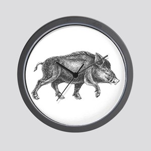 Wild Boar Wall Clock