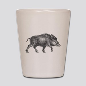 Wild Boar Shot Glass