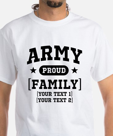 Army Sister/Brother/Cousin White T-Shirt
