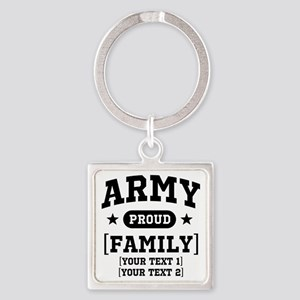 Army Sister/Brother/Cousin Square Keychain