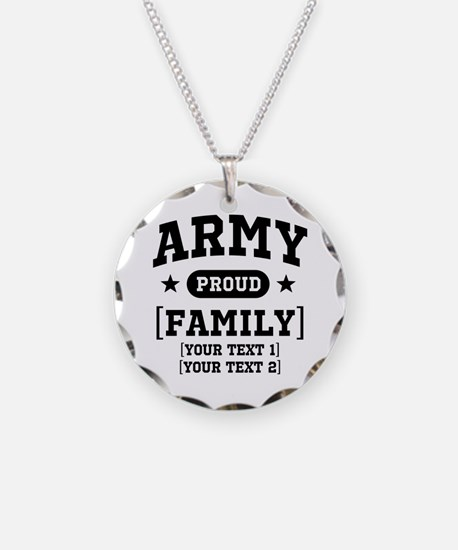 Army Sister/Brother/Cousin Necklace Circle Charm