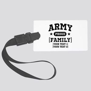 Army Sister/Brother/Cousin Large Luggage Tag