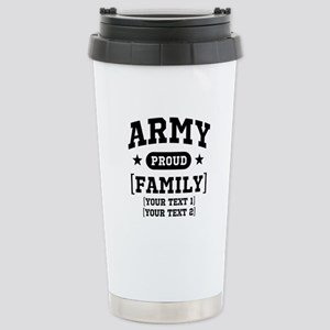 Army Sister/Brother/Cousin Stainless Steel Travel