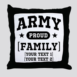 Army Sister/Brother/Cousin Throw Pillow