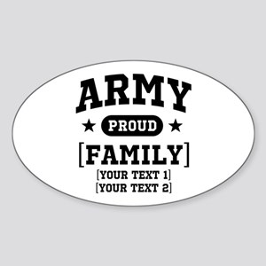 Army Sister/Brother/Cousin Sticker (Oval)