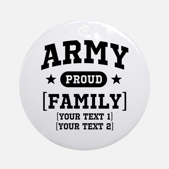 Army Sister/Brother/Cousin Ornament (Round)