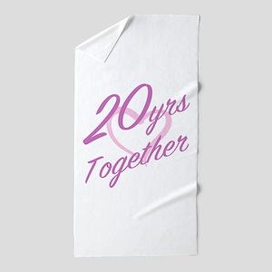 Cute 20th Anniversary Beach Towel