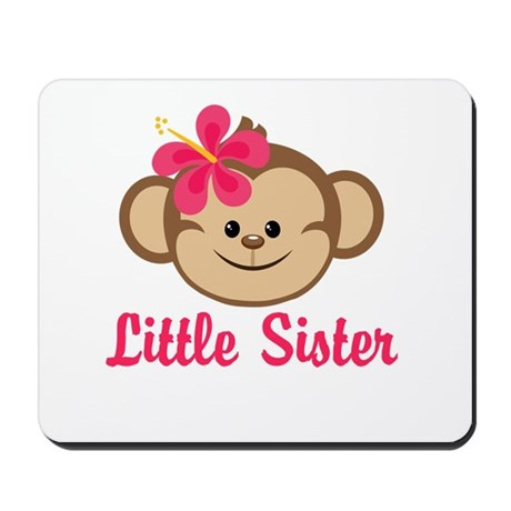 Little Sister Monkey Girl Mousepad