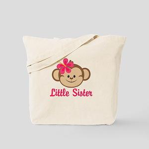 Little Sister Monkey Girl Tote Bag