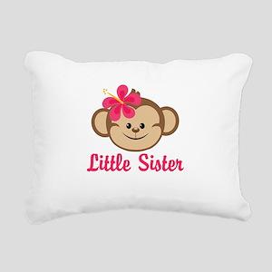Little Sister Monkey Girl Rectangular Canvas Pillo