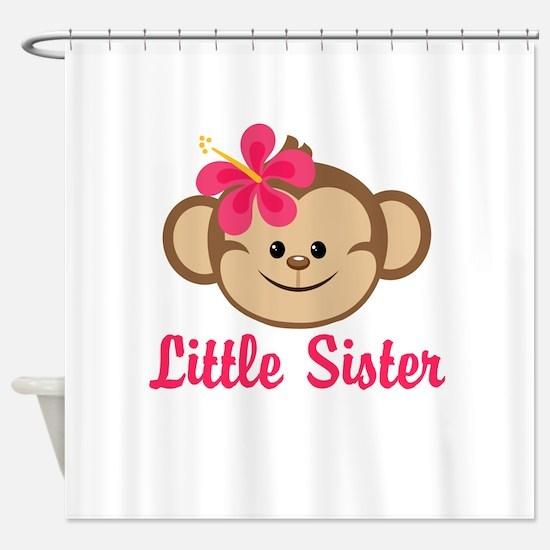 Little Sister Monkey Girl Shower Curtain
