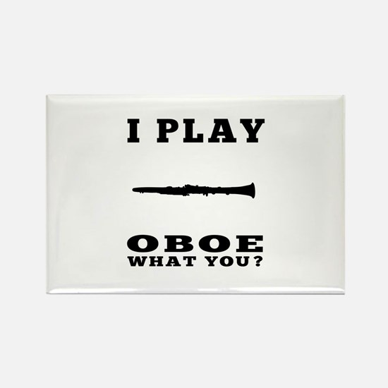I Play Oboe Rectangle Magnet