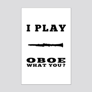 I Play Oboe Mini Poster Print