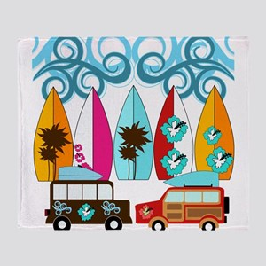 Surfer Surf Boards Beach Design Palm Trees Flower