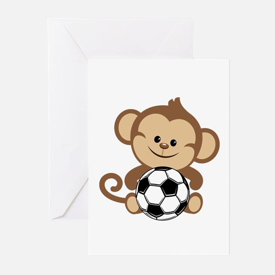 Soccer Monkey Greeting Cards (Pk of 20)