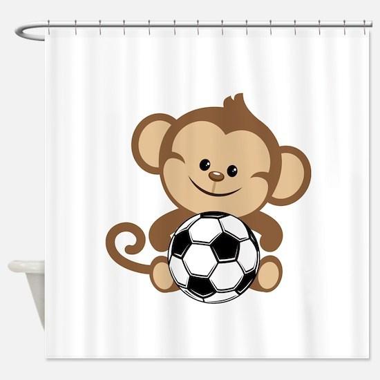 Soccer Monkey Shower Curtain
