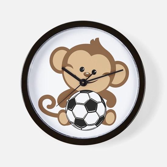 Soccer Monkey Wall Clock