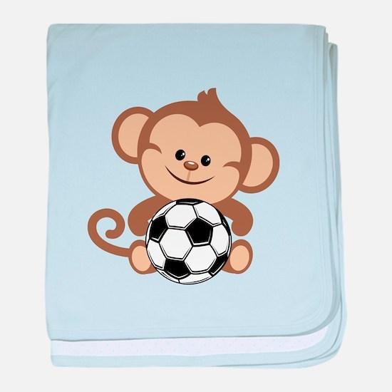 Soccer Monkey baby blanket