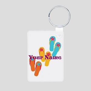 Personalized Flip Flops Keychains